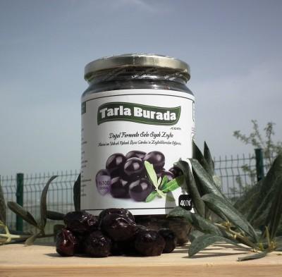 Doğal Fermente Sele Siyah Zeytin 400 Gr
