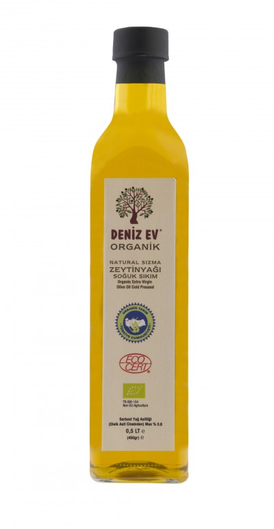 0,5 litre Organic zeytinyağı