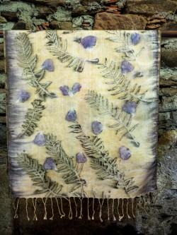 El Dokuma İpek Şal(doğal boyama)