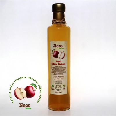 Doğal Fermente Elma Sirkesi 500 Ml