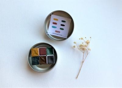 Okra Handmade Watercolors Orman Seti 6 Renk/yarım Kalıp