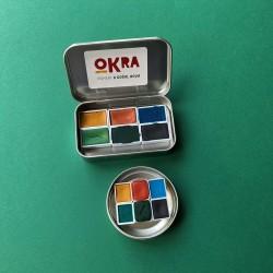 Okra Handmade Watercolors Orman Seti/6 Renk/tam Kalıp