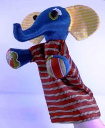 Kutnu kumaş,kırmızı fil kukla 16.5cm*33cm