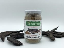 HerbaFarm Organik Öğütülmüş Keçiboynuzu / Kavanoz 225 gr