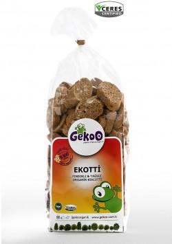 Ekotti Fındıklı Yağsız Organik Biscotti 150g
