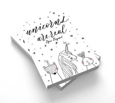 İsme Özel - Unicorns are real - Defter