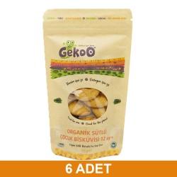 Gekoo Organik Sütlü Çocuk Bisküvisi 80 Gr 6Xadet, %30 İnd