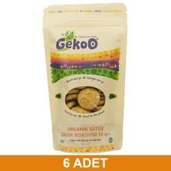 Gekoo Organik Sütlü Çocuk Bisküvisi 150G (12 Ay) 6Xadet