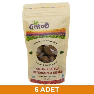 Gekoo Organik Sütlü Keçiboynuzlu Bisküvi 80g 6xadet