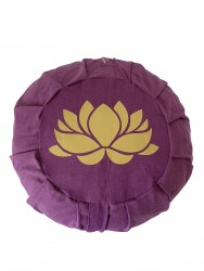 Lotus Çiçeği Baskılı Mor Meditasyon Minderi