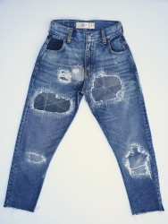 0018 High Rise Cropped Leg Remade Jean Regular Price