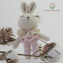 Organic Bonny Baby Pembe Tavşan Çıngırak