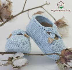 ORGANİC BONNY BABY MAVİ PATİK