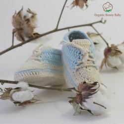 Organic Bonny Baby Mavi Spor Patik