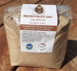 Organik Keçiboynuzu Unu (Glutensiz, Çiğ) 500 gr