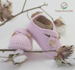 ORGANİC BONNY BABY PEMBE PATİK