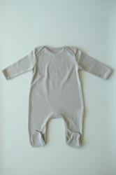 Organik Ayıcıklı Bebek Tulum Gri