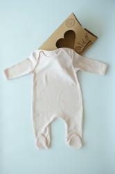 Organik Ayıcıklı Bebek Tulum Ekru
