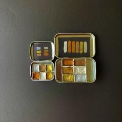 Okra Handmade Watercolor Metalik Set 6 Renk / Yarım Kalıp