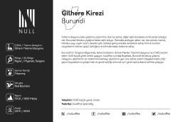 Burundi, Gihere Kirezi Espresso Roast