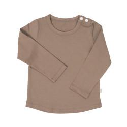 Uzun Kollu Omuzu Çıtçıtlı T-shirt