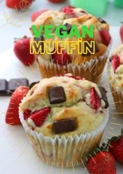 Çilekli Çikolatalı Vegan Muffin Kek (12 Adet)
