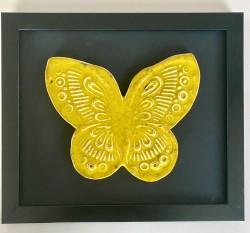 Seramik Sarı Kelebek Tablo