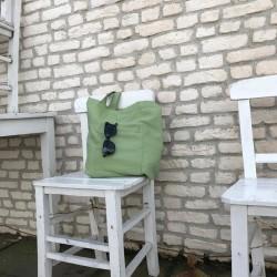 Yeşil Bez Çanta