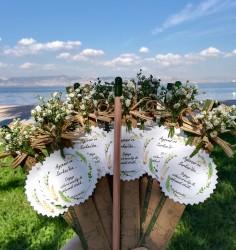 Cipso Çiçek Süslü Nikah Hediyesi Baskısız Tohumlu Kalem
