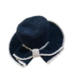 Fiyonk Hasır Şapka - Lacivert