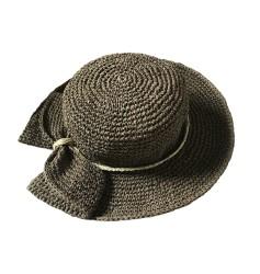 Fiyonklu Hasır Şapka-haki
