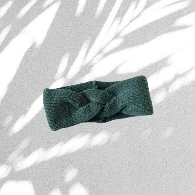 Örgü Saç Bandı - Yeşil