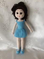 Amigurumi Sevimli Kız Bebek (40cm)