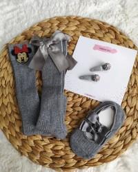 Bebek Çorap Toka Seti | Aksesuarlı Toka Çorap Seti Bebek