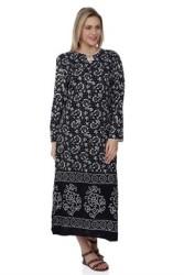 Şile Bezi Pamuk Taşbaskı Elbise