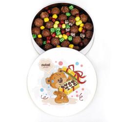 Truf Çikolata Sevimli Ayıcık Metal Kutu