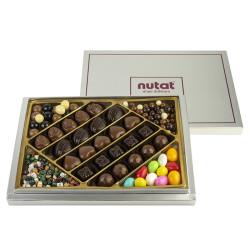 Karışık Spesiyal Çikolata Ve Draje Gümüş Kutu