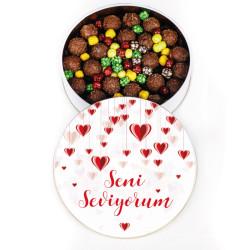 Seni Seviyorum Metal Kutu - Truf Çikolata