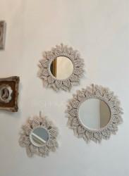 Makrome Ayna Seti-3 Adet