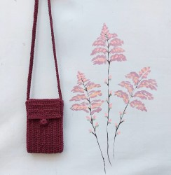 Elişi Mini Tasarım Askılı Çanta