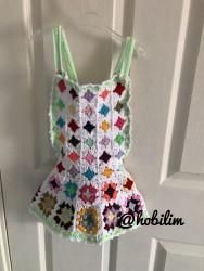 Kız Çocuk Örgü Elbise