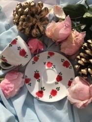 Çiçekli Kahve Fincanı