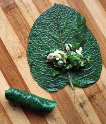 Organik Kaldirik Yaprağı Demet