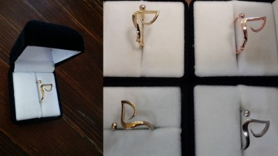 Tider Özel Tasarım Yüzük - Altın Rengi