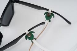 Gözlük Askısı Deri Özel Tasarım Beyaz Askı Yeşil Caretta