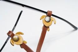 Gözlük Askısı Deri Özel Tasarım Kahve Askı Sarı Caretta