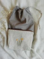 Nakışlı Keten Çanta-ııı