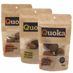 Quoka Glutensiz, Rafine Şekersiz Karışık Kurabiye 3 Adet