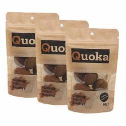 Quoka Glutensiz, Rafine Şekersiz Tahinli Kurabiye 3 Paket