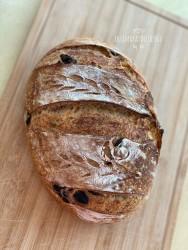 %100 Ekşi Mayalı Zeytinli Kekikli Ekmek